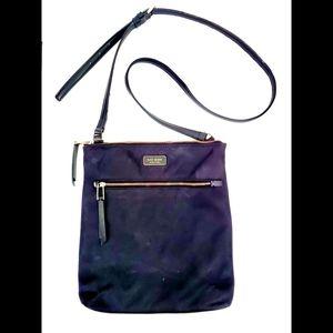 Kate Spade Black Dawn Flat Crossbody Nylon Bag